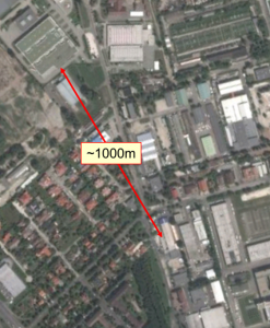 Interference source found 1000m from the point of start
